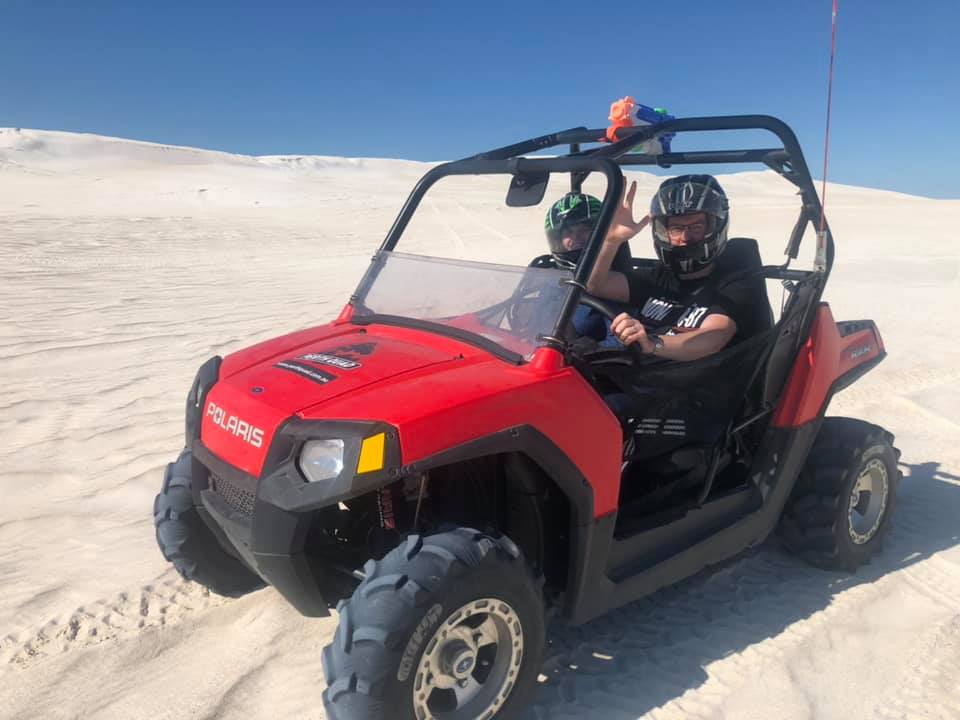 jay and me on quad in lancelin